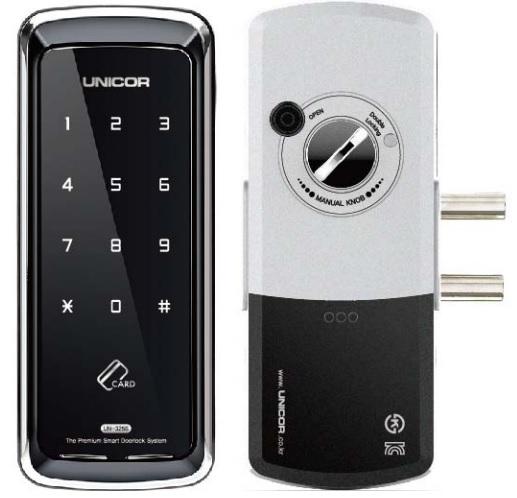 Khóa thẻ từ mã số Unicor UN-325S-SA cho cửa nhôm