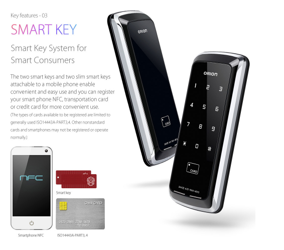 Tính năng khóa cửa thẻ từ , mã số Unicor 325S