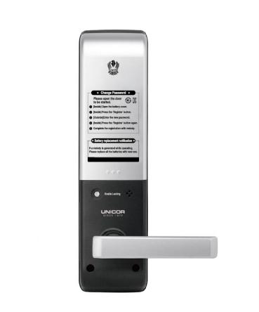 Mặt sau khóa cửa thẻ từ Unicor Un7000SK