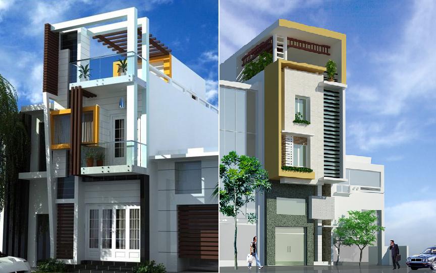 Nhà phố mặt tiền 5m - những mẫu đẹp và hiện đại nhất ( 2020)